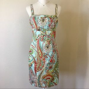 Tommy Bahama Blue Orchid Sunset Paisley Dress